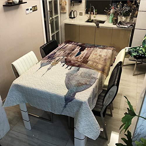 Street View Series Impression Numérique Imperméable À l'eau Nappe Table Basse Tissu Couvercle Multifonctionnel Serviette A 140x180cm