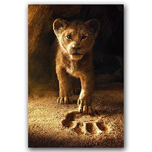 GEEN LOGO CHENTAOCS De Leeuw Koning Film Poster Wall Art Canvas Print Canvas Schilderij 30x45 60x90cm Decoratieve Behang Behang Woonkamer Decor Gemakkelijk te gebruiken