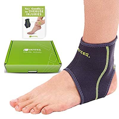 SENTEQ Ankle Brace - Breathable Neoprene Sleeve Provides Support, Compression and Pain Relief. Medical Grade for Sprains, Strains, Arthritis and Torn Tendons. (XXL)