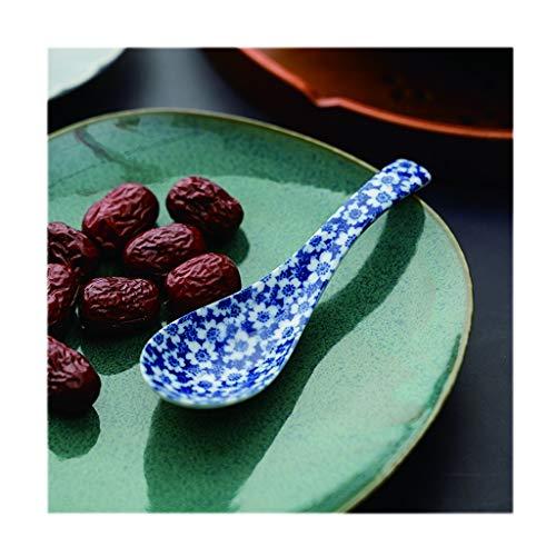 Cuillères à café Vaisselle en céramique ménage/sous-glaçure blanche porcelaine Cuillère, Cuisine Décoration/Crème glacée, gâteau, de nombreux modèles, manche court cuillères à riz asiatiques