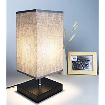 Kleine Nachttischlampen Skandinavisch Nachtischlampen mit Lampenschirm aus Stoff