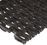 Durable Durite Recycled Tire-Link Outdoor Entrance Mat, Herringbone Weave, 14' x 22',...
