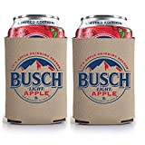 Busch Light Beer BUSCH APPLE Can Coolie Cooler - Limited Edition - 2 Pack