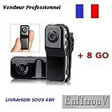 Mini DV Caméra Sport Espion MD80 +8Go