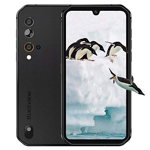 "Blackview BV9900E Outdoor Smartphone ohne Vertrag 4g- 5.84\"" FHD+ 1080 * 2280, Helio P90 Octa-Core 6GB/128GB, 48MP/16MP Kamera, Android 10, 4380mAh Batterie - 5G WiFi, BT5.0, NFC, OTG (Schwarz)"