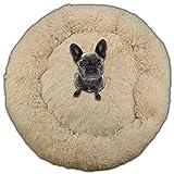 SQUATCH® | Panier de Chien Cocoon Donut | Lit Coussin Ultra Confortable | Couleur Beige (XXL-100cm)