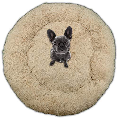 SQUATCH | Cesta de perro Cocoon Donut | Cama cojín muy cómoda | Color Beige (XXL-100 cm)