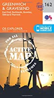 Greenwich and Gravesend (OS Explorer Active Map)