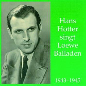 Hans Hotter singt Loewe Balladen