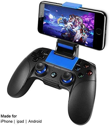 Game Controller Wireless, PowerLead Handy Controller für Android IOS, Tragbarer Joystick-Griff für Mobile Spiele, Wireless Gamepad Support Android/IOS