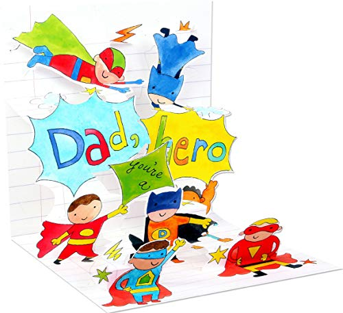 3D Greeting Card - DAD, YOU'RE A HERO! - Father's Day by Treasures