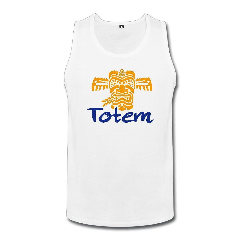 Cute Soul メンズ タンクトップ 可愛いトーテム 笑顔 Totem おしゃれロゴ ☆二重縫い加工 カットソー アメカジの王道 ?