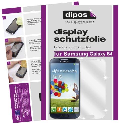 dipos Pellicola protettiva per Samsung Galaxy S4 (confezione da 4 pezzi) - cristallo pellicola di protezione del display