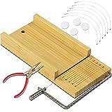 Jabón Cortador DIY Herramienta para Hacer Jabón Hecho a Mano - Ajustable Herramientas de Corte de Alambre Jabón de Bambú Caja - Multifuncional Recta de Jabón de Herramientas de Rebanador #3