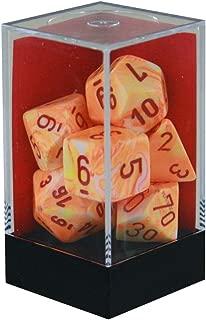 Chessex Festive Polyhedral Sunburst W/Red 7-Die Set