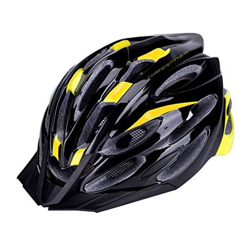 AG&TAdult Bike Helmet That's Light, Cool & Sleek, Cycling Helmet for Urban Commuter,Adjustable Size for Adult Men/Women,Unisex Bicycle Helmet Sports Riding Safety Helmet Yellow