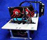 Anncus A4 Mini ITX MATX ATX PC Test Bench Open Frame USB 3.0 Water Cooling Fan Case DIY Bare Overclocking HTPC Support Graphics Card - (Color: ATX Silver)