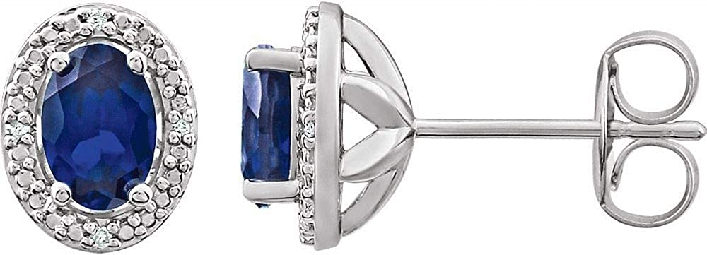 Ranking TOP15 Sterling Silver Created Blue Diamond Earrings Sapphire and Max 88% OFF