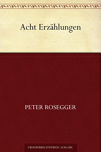 Couverture du livre Acht Erzählungen (German Edition)
