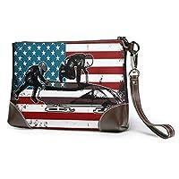 レザーハンドバッグ レザー アメリカそりスポーツフラグ 新時代の女性のハンドバッグ、人気のあるハンドバッグ、ショッピングバッグ、会議バッグ、パーティーパッケージ、快適、軽量、防水、耐久性、環境に優しい