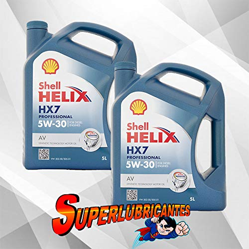 Mundocoche Shell Helix HX7 Professional AV 5w30 2x5L(10 litros)