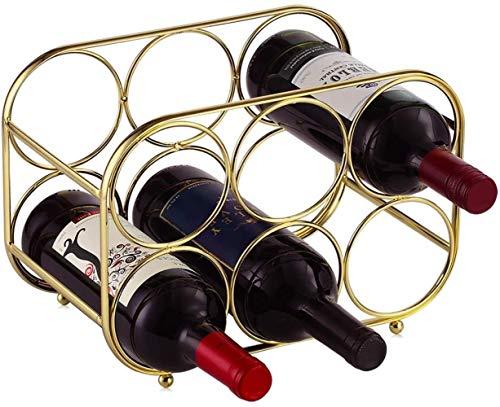 Buruis 9 botellas de metal para vino, soporte para almacenamiento de vino, protector de espacio para vinos tintos y blancos, color negro
