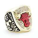 TWCUX 1993 Chicago-Bulls Jordan #23 Basketball Replica Championship Ring for Fans Men's Gift Size 9-13 with A Wooden Box (Without Box,12)