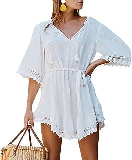 Women's Swim Cover Ups for Beach Swimwear, Summer Casual Loose Sun Dress…