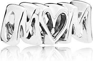 Mom Script 925 Sterling Silver Charm - 797778