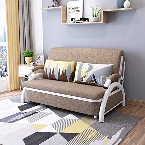 Home Equipment Sofá futón de estilo europeo Cama convertible Sofá plegable multifunción Cama plegable Sofá perezoso extraíble con nuevo apoyabrazos curvo para sala de estar Muebles de apartamento b