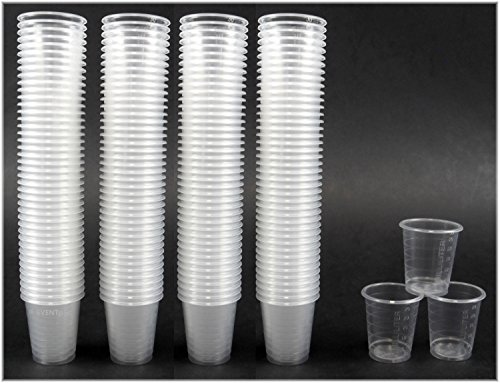 2250 Schnapsbecher / Medikamentenbecher / transparent / 2cl - 3cl / Einweg Schnapsgläser