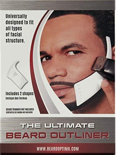 Beardoptima Beard Outliner Kit / 2 / ROUND AND SQUARE set All-In-One Tool | Kit de regalo para el cuidado y el cuidado de la barba Use con una herramienta para recortar barba o maquinilla de afeitar