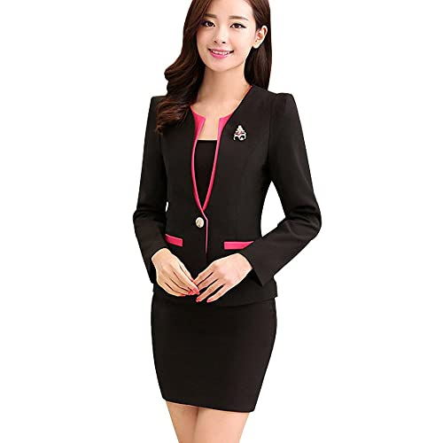 c747f19b400 Kangqifen Women s Long Sleeve Business Offcie Suit Skirt Set