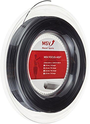 MSV Focus-Hex Rollo de Cuerdas Negro Talla:1.23mm