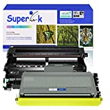 SuperInk 2 Pack Compatible for Brother DR360 Drum Unit TN360 Toner Cartridge (1 Drum,1 Toner) use in DCP-7030 DCP-7040 HL-2140 HL-2150N HL-2170W MFC-7340 MFC-7840W MFC-7440N MFC-7345N Printer