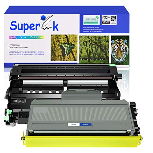 SuperInk 2 Pack Compatible for Brother DR360 Drum Unit TN360 Toner Cartridge (1 Drum,1 Toner) use in DCP-7030 DCP-7040 HL-2140 HL-2150N HL-2170W MFC-7340 MFC-7840W MFC-7440N MFC-7345N Printer