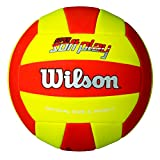 Wilson Volleyball, Outdoor, Freizeitspieler, Super Soft Play, Rot/Gelb