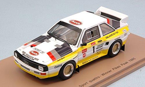 per AUDI QUATTRO S1 N.1 WINNER PIKES PEAK HILL CLIMB 1985 M.MOUTON 1:43 - Spark Model - Auto Competizione - Die Cast - Modellino