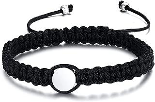 VNOX Customize Friendship Bridesmaid Jewelry-Set for 2/3/4/5 Handmade Coordinates Braided Rope Bar Bracelet for Men Women