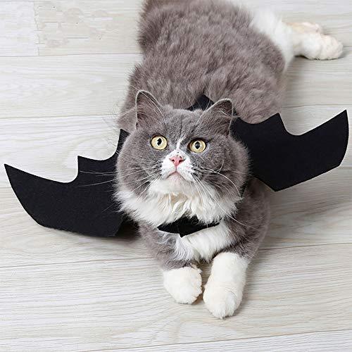ETbotu Heimtierbedarf Halloween Pet Bat Black Wings Katze Hund Bat Kostüm