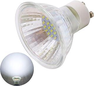 Xindaxin - Bombilla LED GU10 (1,5 W, equivalente a 15 W, GU10, luz blanca fría, 6000 K, ángulo de haz de 120°, 1 unidad)