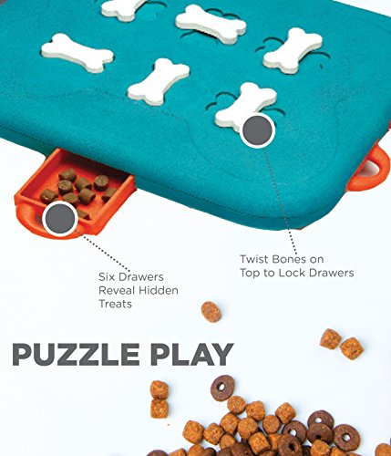 Outward Hound Nina Ottosson Dog Casino Advanced Puzzle Toy - Stimulating Interactive Dog Game for Dispensing Treats