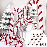 kungfu Mall 3PCS 90CM Bastones de Caramelo inflables Novedad Gigante Candy Cane Stick Inflable para la decoración de Navidad