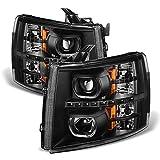 ACANII - For Black 2007-2013 Chevy Silverado 1500 2500HD 3500HD LED Halo Projector...