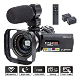 Camcorder Video Camera YEEHAO WiFi HD 1080P 24MP 16X Powerful Digital Zoom Camera with Microphone...