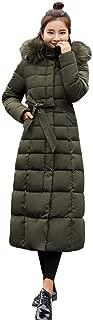Lelili Women Long Maxi Coat Plus Szie Fashion Packable Long Sleeve Faux Fur Hoode Zip Button Up Padded Overcoat Outwear
