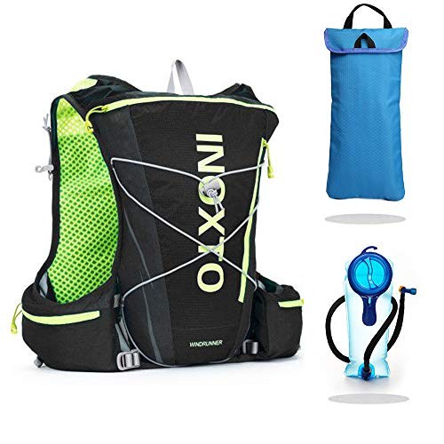 IBTXO Running Race Hydration Vest 10L Outdoors Hydration Pack Backpack for Marathon Running Cycling Hiking Fits Men and Women (Black-Set 3in1)