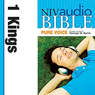 Pure Voice Audio Bible - New International Version, NIV (Narrated by George W. Sarris): (10) 1 Kings audiobook cover art