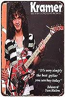 なまけ者雑貨屋 メタルサイン Kramer Electric Guitars Edward Van Halen ヴィンテージ風 ライセンスプレート メタルプレート ブリキ 看板 アンティーク レトロ