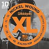 D'Addario EXL110-10P XL  Cordes en Nickel pour Guitare Électrique, Tirant Regular...